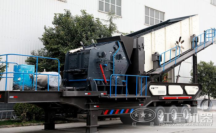 移动煤矸石破碎机