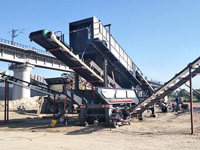 安徽铁矿石移动破碎站破碎现场
